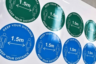 Social Distancing Floor Signs & Decals Perth