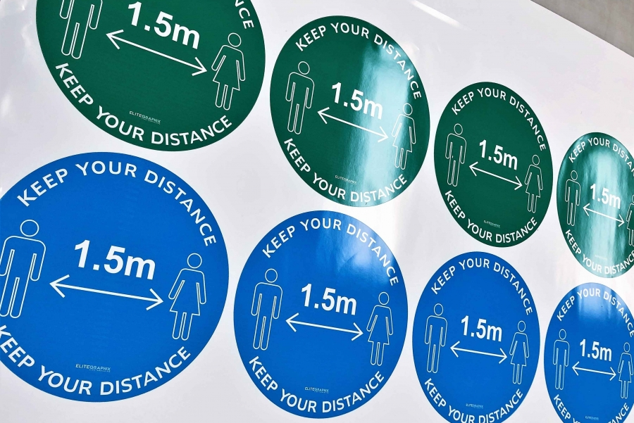 Image for Social Distancing Floor Stickers