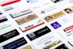 Other examples of professional resin coated name badge options available. Image 10