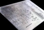 Etched schematic on stainless steel. Image 4