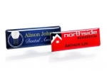 Professional resin coated name badges. Image 1